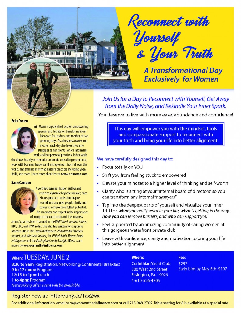 Join Erin & Sara Canuso on June 2nd