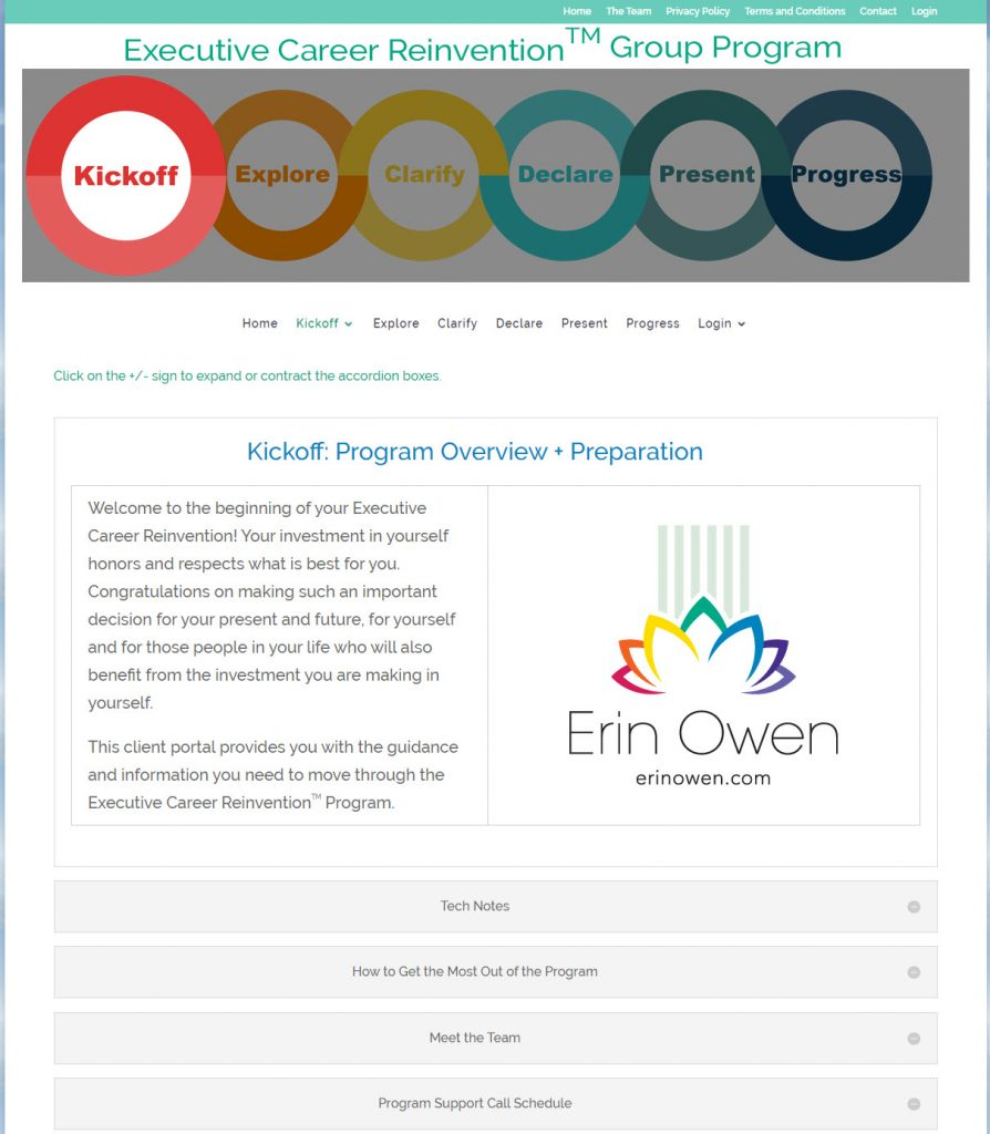 ECR Portal Screenshot